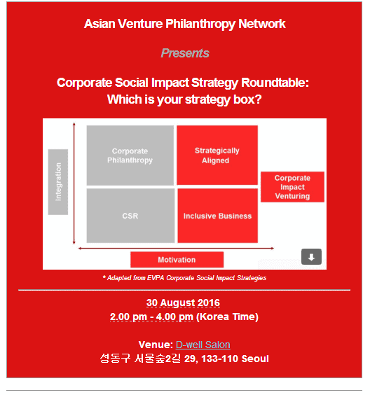 AVPN Event Korea Corporate Social Impact Strategy Rountable
