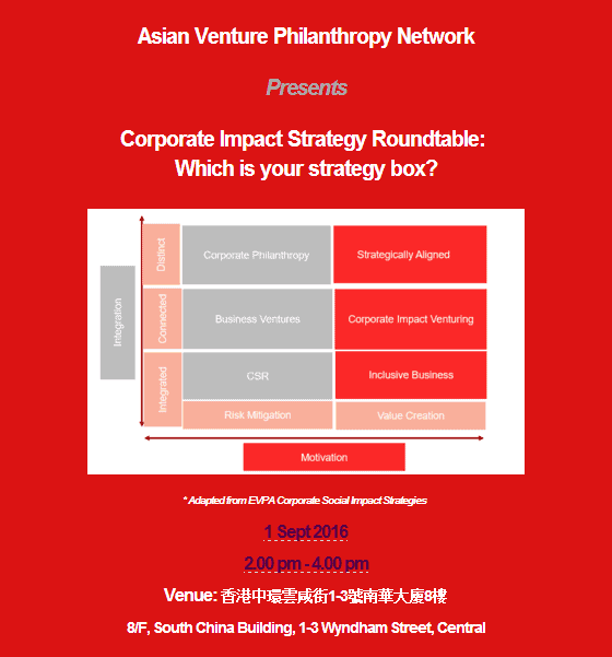 AVPN Event Which is your strategy box
