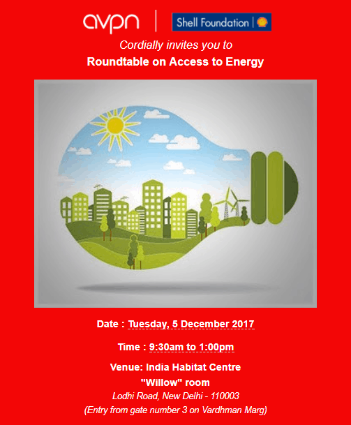 AVPN India Roundtable: Access to Energy