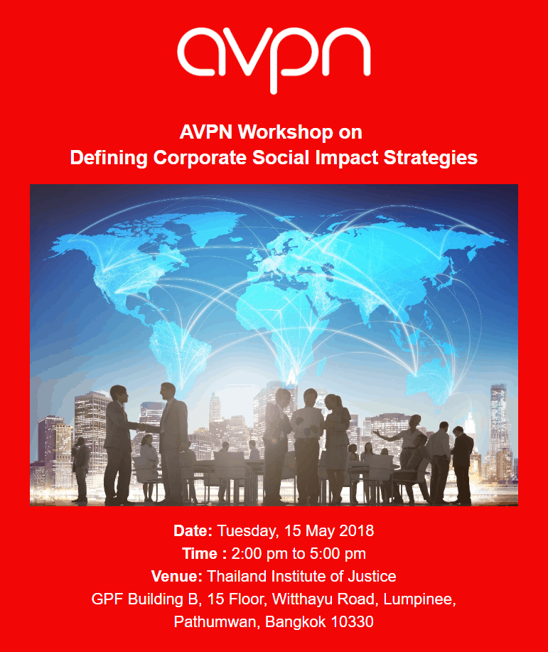 AVPN Workshop on Defining Corporate Social Impact Strategies