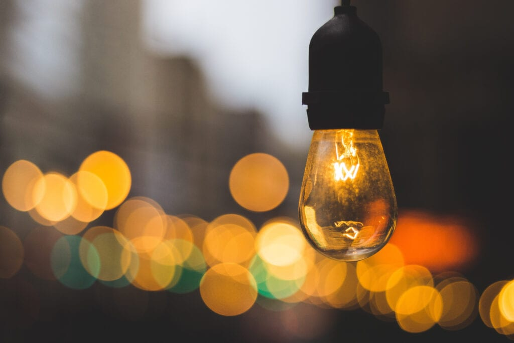 Photo of lightbulb as cover to webinar post