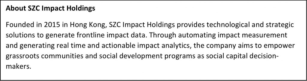 AVPN Roundtable on Technological Innovation and Impact Measurement_About SZC Impact Holdings