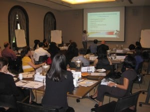 Workshop session in Singapore